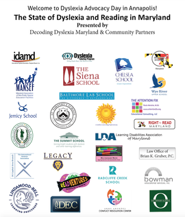 Dyslexia Advocacy Day Community Partners Include Anne Arundel Conflict Resolution Center Aacrc  C2 B7 Atlantic Seaboard Dyslexia Education Center Asdec